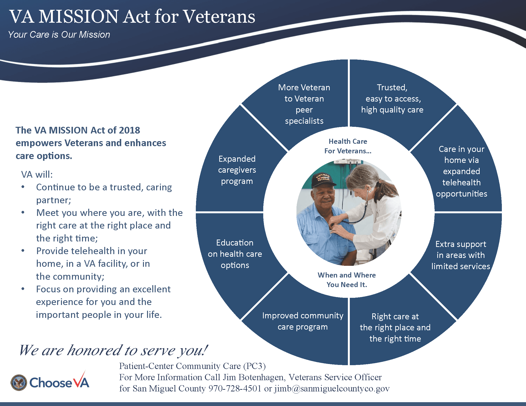 VA MISSION Act of 2018 link to VA website